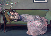 Famous Artists - The green sofa by John Lavery