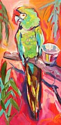 Parrot Art Paintings - The Greeter by Eve  Wheeler