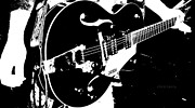 Live Music Prints - The Gretsch Guitar Print by Chris Berry