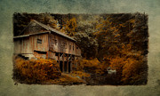 Old Cabins Posters - The Grist Mill  Poster by Steve McKinzie
