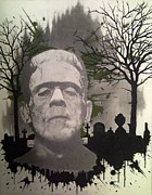 Frankenstein Drawings - The Groom by Asev One