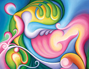 Visionary Art Painting Prints - The Groundswell of Spring Print by Tiffany Davis-Rustam