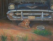 57 Chevy Painting Framed Prints - The Guard Framed Print by Jana Baker