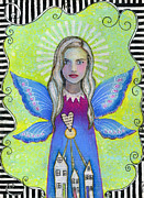 Guardian Angel Print Prints - The Guardian Angel Print by Shirley Dawson