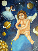The Guardian Angels Of The Universe Print by Saranya Haridasan