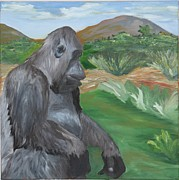 Gorilla Paintings - The Guardian by Cole Condict