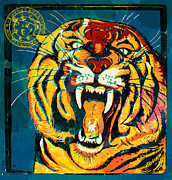 Tiger Illustration Framed Prints - The Guardian Framed Print by Gary Grayson