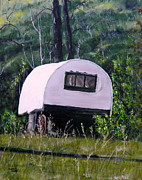Guest Painting Prints - The Guest Cabin Print by Sharon Tabor