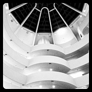 Nyc Digital Art Posters - The Guggenheim Poster by Natasha Marco