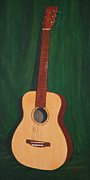 Mahogany Red Painting Prints - The Guitar  Print by Jimmie Bartlett