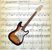 Fender Strat Digital Art - The Guitar by Ron Davidson