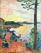Tropez Paintings - The Gulf Of Saint Tropez by Henri Matisse