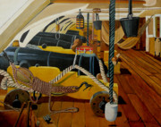 Royal Navy Paintings - The Guns of Victory by Anthony Dunphy