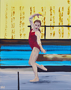 Athletic Paintings - The Gymnast by Alys Caviness-Gober