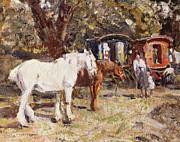 The Gypsy Encampment Print by Harry Fidler