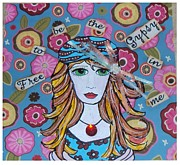 Gypsy Mixed Media - The Gypsy in Me by Teca Burq-Art