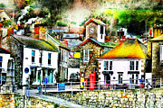 Pillar Box Prints - The Hamlet of Mousehole Cornwall Print by Terri  Waters