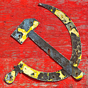 Marxism Framed Prints - The Hammer and Sickle Framed Print by Martin Bergsma