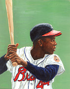 Hall Of Fame Painting Originals - The Hammer by Rudy Browne