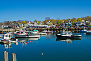 Rockport  Ma Framed Prints - The Harbor at Rockport MA Framed Print by John Hoey