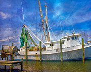 Fishing Vessel Framed Prints - The Harbor II Framed Print by East Coast Barrier Islands Betsy A Cutler