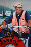 Maine Artist Paintings - The Harbor Master by Joy Bradley                   DiNardo Designs