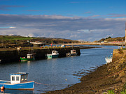 Fishing Boats Framed Prints - The Harbour at Hayle Cornwall Framed Print by Louise Heusinkveld