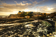 Cliff Lee Metal Prints - The Harbour at Lee  Metal Print by Rob Hawkins