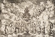 The Harmony Of The Spheres Print by Agostino Carracci