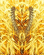 Harvest Deco Digital Art Prints - The Harvest Is Plentiful The Laborers Are Few Print by PainterArtist FIN