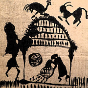 Warli Paintings - The Harvest by Patricia Januszkiewicz