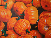Pumpkins Paintings - The Harvest by Stephen DiRienzo