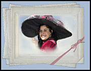 Beautiful Woman Digital Art Framed Prints - The Hat Framed Print by Betty LaRue