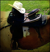 Horses Digital Art - The Hat Rack by Steven  Digman