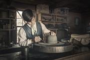 The Hatter - Millenery - Hatmaking Print by Gary Heller