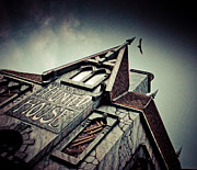 Creepy Digital Art Metal Prints - The Haunted House  Metal Print by Eti Reid