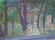 Haunted House Drawings Originals - The Haunted House in Talpiot Jerusalem by Esther Newman-Cohen