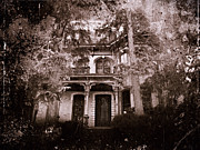 Haunted House Mixed Media Prints - The Haunting Print by David Dehner