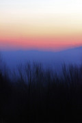 Carolyn Stagger Cokley Posters - The Haze Of A Mountain Sunset Poster by Carolyn Stagger Cokley