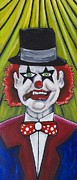 Asbury Park Funhouse Painting Originals - The Head Clown-Mr Sparks by Patricia Arroyo