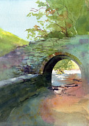 National Park Paintings - The Headgate by Kris Parins