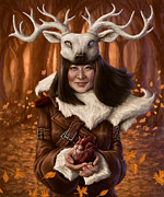 Hunting Digital Art Prints - The Healer Print by Mark Zelmer