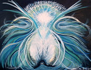 Swan Goddess Paintings - The Healing. by Trac Davies