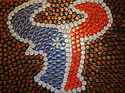 Bottle Cap Originals - The Heart of Texans by Ruby Rammer