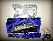 The Titanic Prints - The Heart of the Sea Print by Pauline Murphy