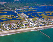Topsail Island Posters - The Heart of Topsail Poster by Betsy A Cutler East Coast Barrier Islands