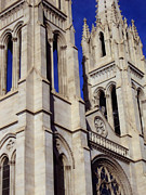 The Heights Of The Cathedral Basilica Of The Immaculate Conception Print by Angelina Vick