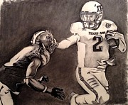 Texas Drawings - The Heismanziel Pose by Mark Hutton
