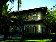 Florida House Posters - The Hemingway House in Key West Poster by Susanne Van Hulst