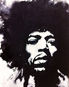 Blackandwhite Painting Posters - The Hendrix Poster by Wade Edwards